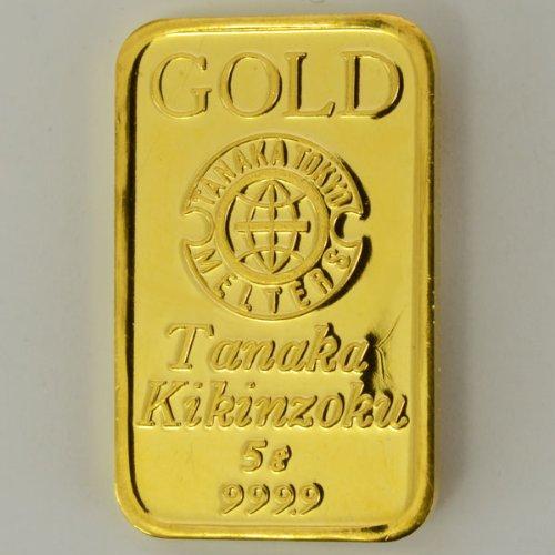 田中貴金属ゴールドバー5g 田中貴金属発行金貨 コイン 金 純金 ゴールド 並行輸入品