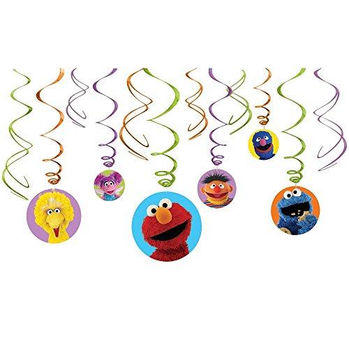 Sesame Street Hanging Swirl Decorations (12pc)