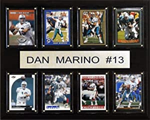 NFL Dan Marino Miami Dolphins 8 Card Plaque by C&I Collectables