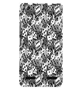 PrintVisa LENA6000PLUS-Corporate Print & Pattern Dice Domino Plastic Back Cover (Multicolor)