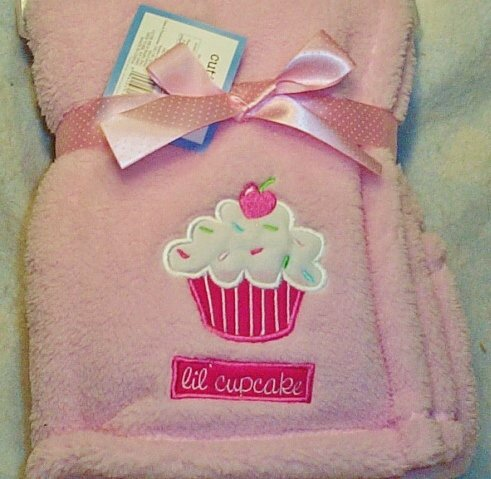 Lil Cupcake Baby Blanket (Pink) - 1