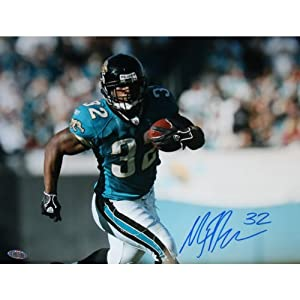NFL Jacksonville Jaguars Maurice Jones-Drew Blue Jersey Action Photograph, 11x14-Inch by Steiner Sports