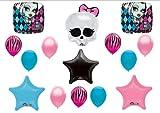 Monster High Skullette Birthday Balloon Bouquet Kit