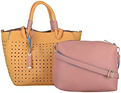 Moda King Women's Handbags (Mustard Yellow) (ModaKing027_A)