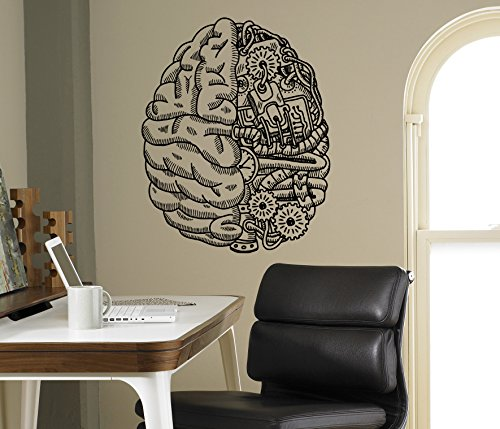 Cyber Brain Wall Vinyl Decal Droid Robot Wall Sticker Home Interior Living Room Housewares Design Door Stickers Wall Graphics Children's Room Custom Decals 6(rbt) (Robot Brain compare prices)
