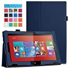 MoKo Nokia Lumia 2520 Case - Slim Folding Cover Case for Nokia Lumia 2520 10.1 Inch Microsoft Windows RT 8.1 Tablet, INDIGO (with Smart Cover Auto Wake / Sleep)