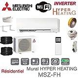 Split Klimageräte Mitsubishi Hyper Heating DELUXE MSZ-FH35VE + Einbausatz für 7 Meter