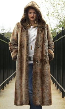 Women S Faux Fur Coat Coyote Hooded Full Length Coat Review