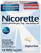 Nicorette Gum Starter Kit, 2 mg, 110 pieces (Original Flavor)