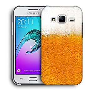 Snoogg Beer Glass Designer Protective Back Case Cover For SAMSUNG GALAXY J2