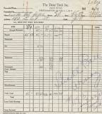 LUCILLE BALL (I Love Lucy) signed hotel receipt from 1961