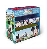 Spielzeugregal - Standregal - Aufbewahrungsregal 6 Boxen mit Motivauswahl (Mickey Mouse)
