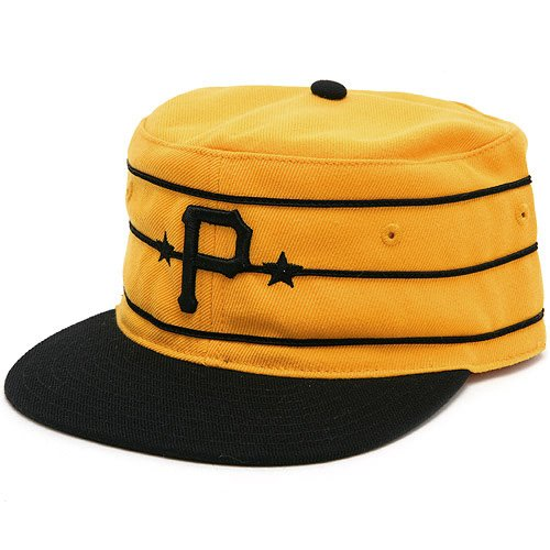 Pittsburgh Pirates MLB 1977 Vintage Baker Cooperstown Fitted Cap (Gold, 6 7/8)
