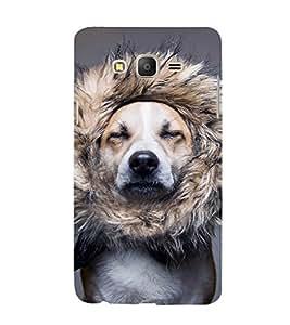 EPICCASE dog at saloon Mobile Back Case Cover For Samsung Galaxy E5 (Designer Case)