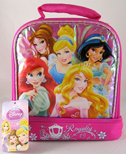 Disney Princess Insulated Dual Compartment Lunch Tote Bag Box - 1