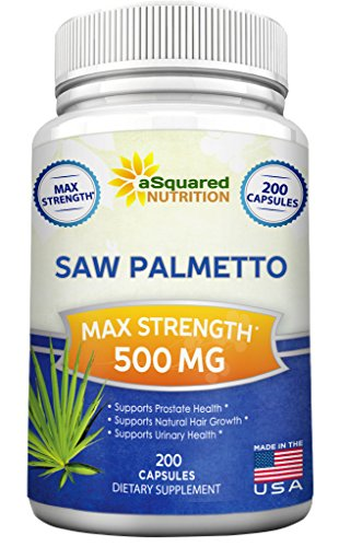 Saw Palmetto Supplement For Prostate Health (200 Capsules) - 500mg Max Strength Extract & Berry Powder Complex to Reduce Frequent Urination, DHT Blocker, Natural Herbal Pills to Fight Hair Loss (Super Beta Prostate Reviews compare prices)