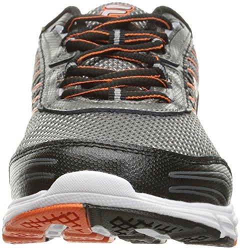 Fila Men's Forward 3 Running Shoe, Dark Silver/Black/Red Orange, 10.5 M US
