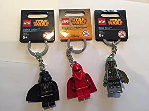 LEGO Star Wars Triple Pack of Key rings / Key Chains - Darth Vader, Boba Fett, Royal Guard
