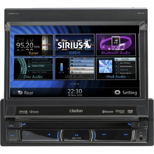 Clarion NZ501 6.5-Inch 2-DIN Multimedia Control Station with Touch Panel Control, USB and Built-In-Navigation/Bluetooth