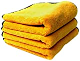 "Chemical Guys MIC_506_03 - Professional Grade Premium Microfiber Towels, Gold 16"" x 16"" (Pack of 3)"