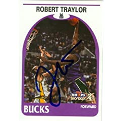 Robert Traylor Autographed Hand Signed Basketball Card (Milwaukee Bucks) 2000 Hoops... by Hall of Fame Memorabilia
