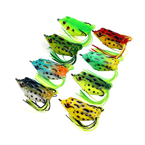 Threemart-Fishing-Lures-For-FreshwaterTopwater-Frog-Crankbait-Tackle-Bass-Soft-Swimbait-Lures-Crankbaits-Hard-Bait-12pcslot