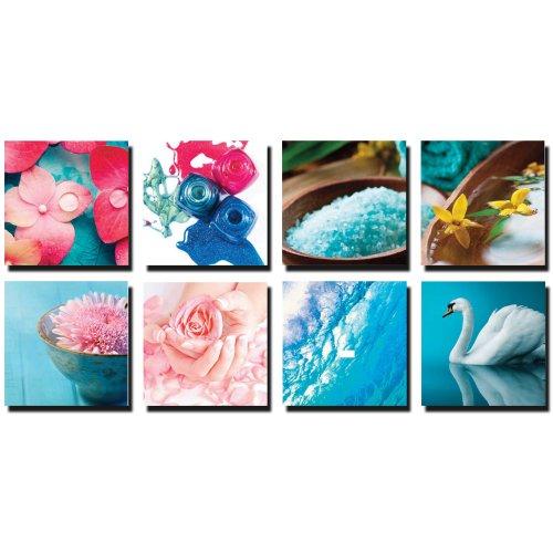 8 pc beauty salon spa canvas decoration cm af