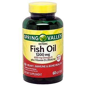 Spring Valley Fish Oil 1200 Mg Plus Vitamin