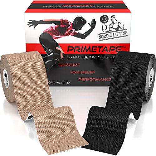 Kinesiology Tape (2-Pack) PrimeTape - Pro Sports & Athletic Taping for Knee,...