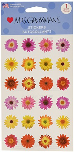 Mrs. Grossman's Stickers-Flowers By The Dozen