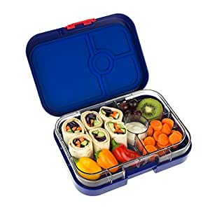 yumbox panino myrtille blue leakproof bento lunch box container for kids and. Black Bedroom Furniture Sets. Home Design Ideas