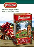 Partanna Extra Virgin Olive Oil 3 Liter Can (Pack of 2)