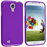 eForCity Flexible TPU Rubber Skin Cover Case Compatible with Samsung© Galaxy S IV/ S4 i9500, Purple Jelly
