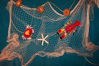 20 X 9 Fishing Net Starfish Floats Nautical Decor Lobster Crab Netting