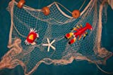 20 X 9 Fishing Net, Starfish, Floats. Nautical Decor, Lobster, Crab, Netting