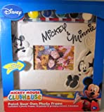 DISNEY PAINT YOUR OWN PHOTO FRAME MICKEY MOUSE CLUBHOUSE MICKEY & MINNIE MOUSE INCLUDES: 1 PHOTO FRAME, 12 PAINTS, 2 BRUSHES