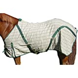 Derby Originals Horse Hunter Green and Beige Plaid Light Sheet at Wholesale Price