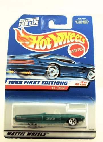 Hot Wheels - 1998 First Editions - 1963 T-Bird - Ford - #9 of 40 Cars - Die Cast - Collector #644 - Limited Edition - Collectible - 1