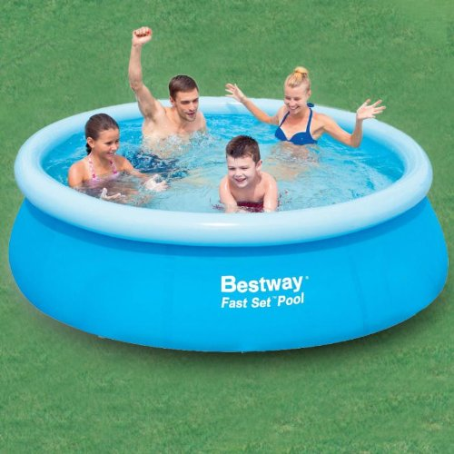 Bestway fast set pool rund 244x066m by gre at the aufblasbar for Bestway pool bei obi