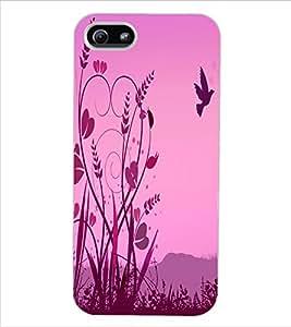 ColourCraft Love Birds Design Back Case Cover for APPLE IPHONE 5S