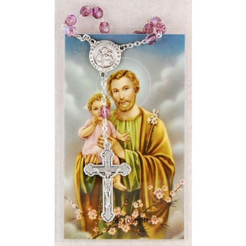 St. Joseph Auto Rosary and Prayer card