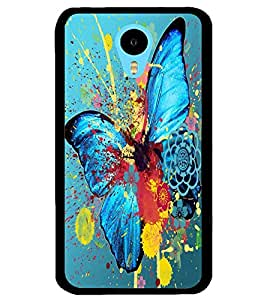 ColourCraft Colourful Butterfly Design Back Case Cover for MEIZU M1 NOTE