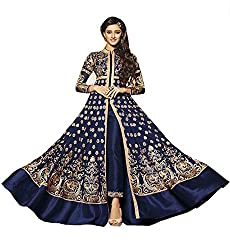 Classic Blue Designer Embroidered Anarkali Suit