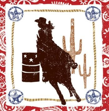Western Lasso Luncheon Napkins - 1