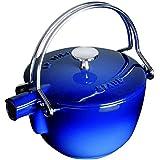 Staub Round Teapot - Kettle, Dark Blue, 1 qt. - Dark Blue