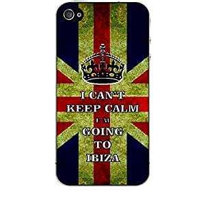 Skin4gadgets I CAN'T KEEP CALM I'm GOING TO IBIZA - Colour - UK Flag Phone Skin for APPLE IPHONE 4S