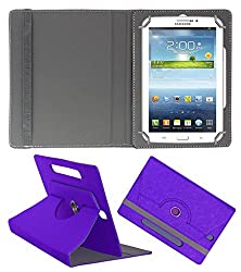Acm Designer Rotating Case For Samsung Galaxy Tab 2 P3110 Stand Cover Purple