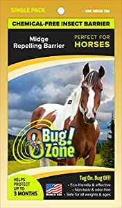 0Bug!Zone 1 Piece Midge Barrier Tag for Horses