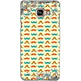 PrintVisa Designer Back Case Cover For Samsung Galaxy On Max (Moustaches Pattern)