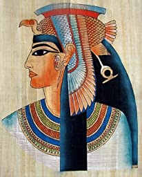 Egyptian Hand-Painted Papyrus Artwork (Imported): Queen Nefertari